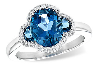 B235-60059: LDS RG 3.04 TW LONDON BLUE TOPAZ 3.20 TGW